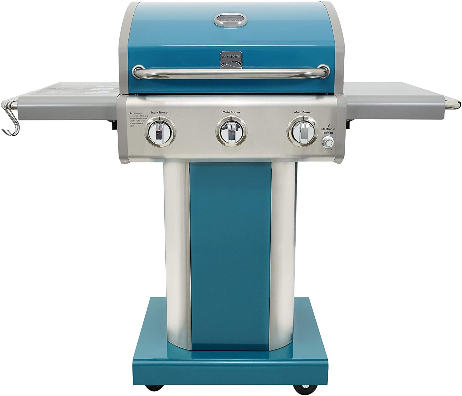 Kenmore Burner Outdoor Patio Gas BBQ Propane Grill, Teal 1 ...
